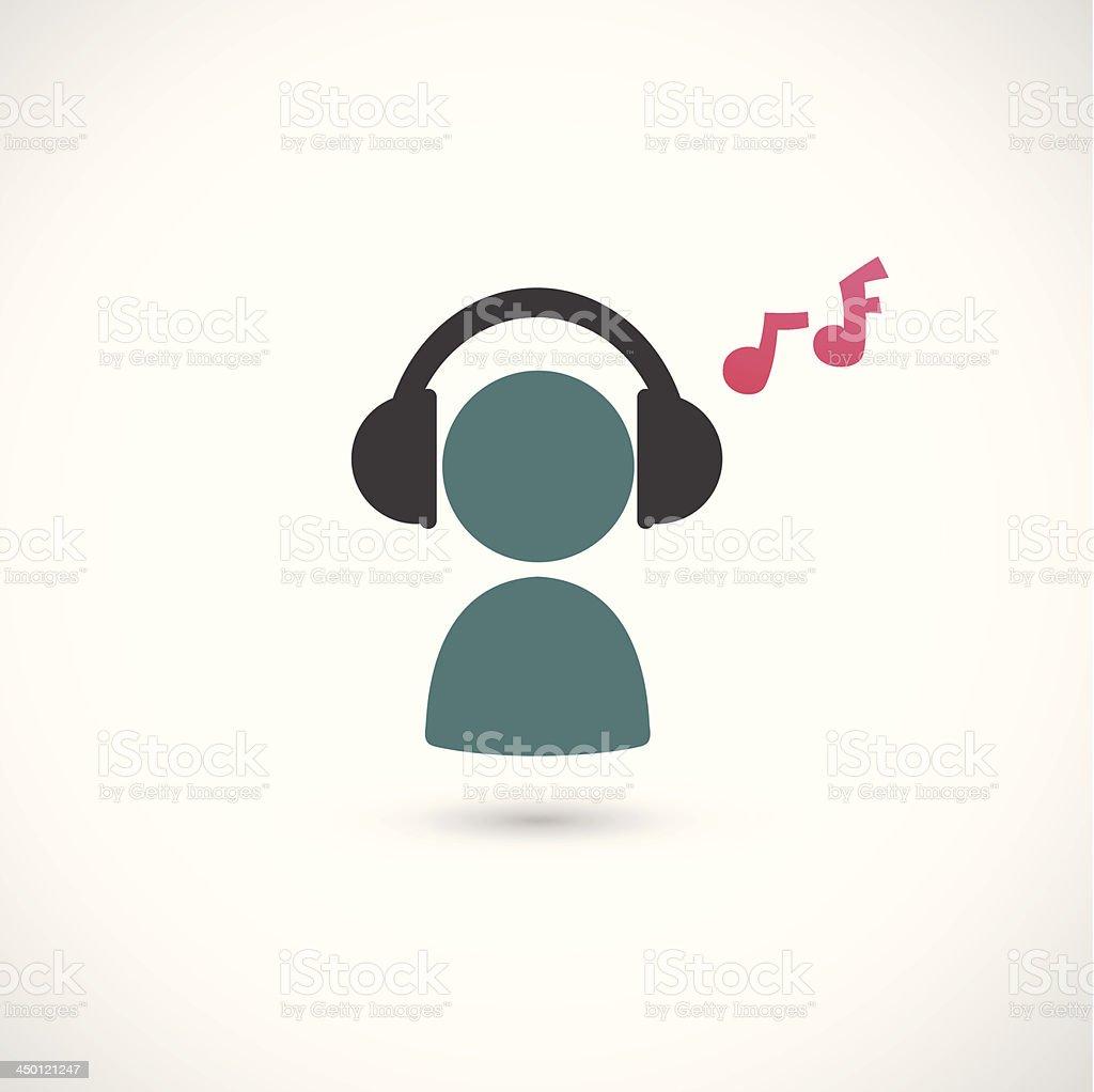 Прослушивание Музыки Значок — стоковая векторная графика и другие ...