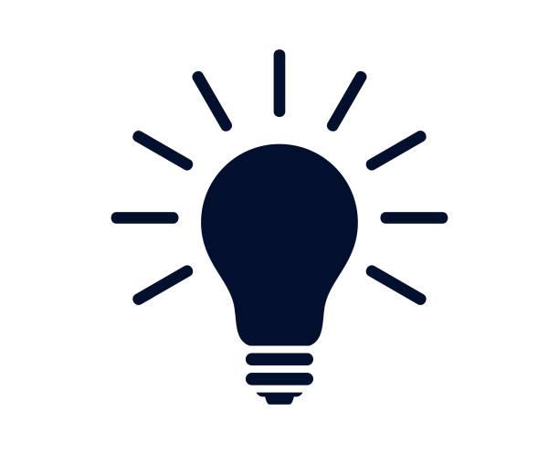 lit electric żarówka ilustracja izolowane na białym tle - wektor - lampa elektryczna stock illustrations