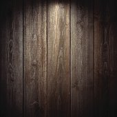 Lit realistic wooden wall.