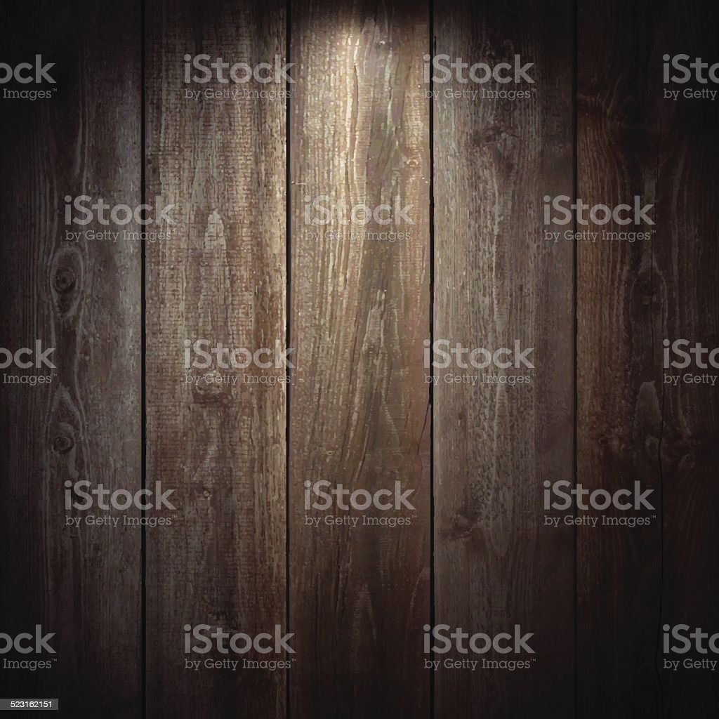 Lit Wooden Background vector art illustration
