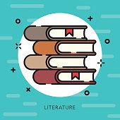 istock Literature Open Outline Arts & Culture Icon 881326602
