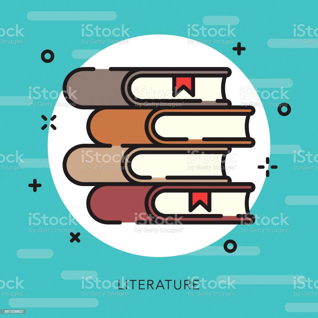 Literature Open Outline Arts & Culture Icon vector art illustration