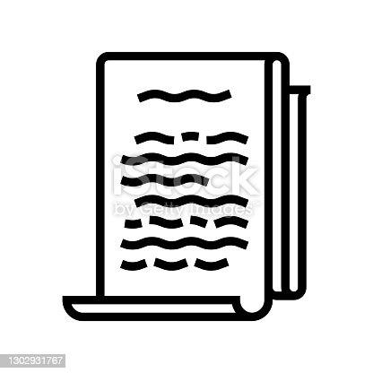 literature philosophy line icon vector. literature philosophy sign. isolated contour symbol black illustration