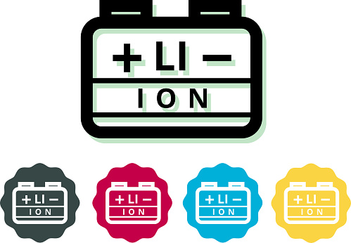Lithium Ion Battery Icon - Illustration