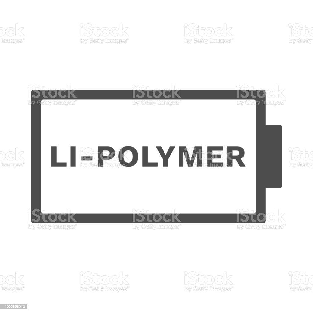 Lithium Polymer Battery Icon Lipo Symbol Vector Stock Vector Art ...