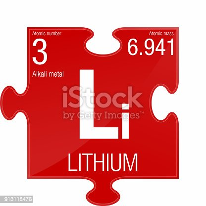 Lithium Symbol Element Number 3 Of The Periodic Table Of The