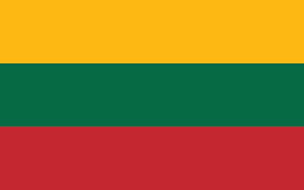 Lithuania Flag Lithuania Flag lithuania stock illustrations