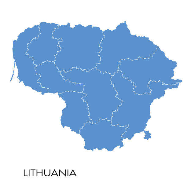Lithuania map Vector illustration of the map of Lithuania lithuania stock illustrations