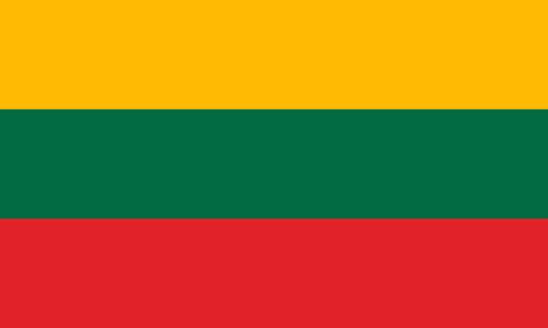 Lithuania national flag. Vector illustration. Vilnius The national flag of Lithuania. Vector illustration. Vilnius lithuania stock illustrations