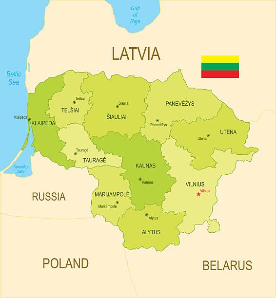 Lithuania http://dikobraz.org/map_2.jpg lithuania stock illustrations