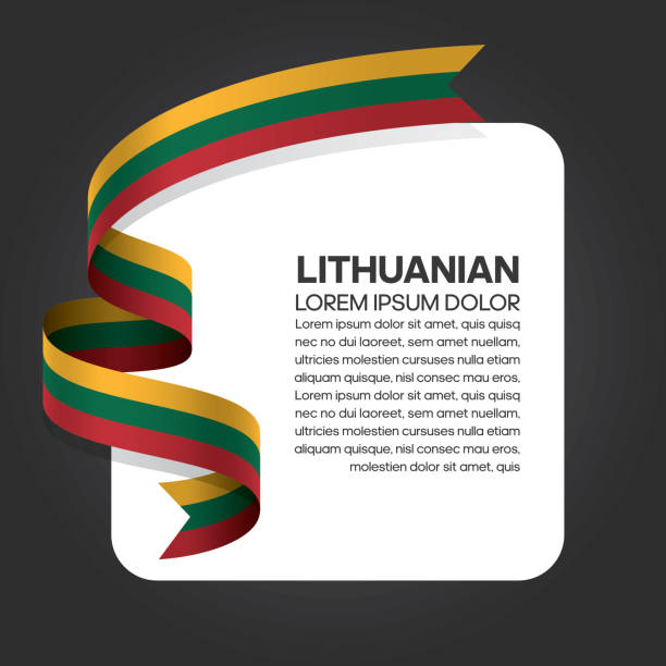 Lithuanian flag background Lithuanian, flag, countrry, culture, background lithuania stock illustrations