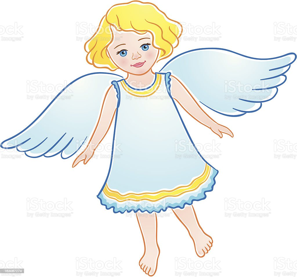 Little angel - illustrazione arte vettoriale