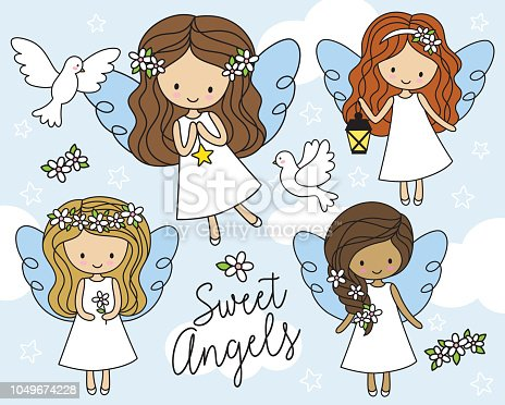 African American Angel Clip Art - Royalty Free - GoGraph