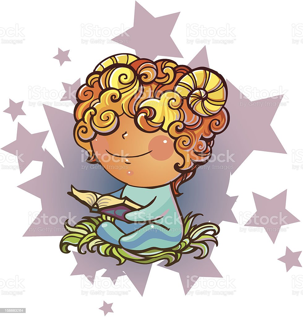 Little Aries royalty-free stock vector art