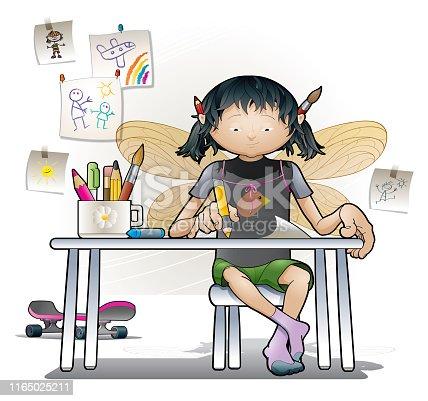 istock Little artist 1165025211
