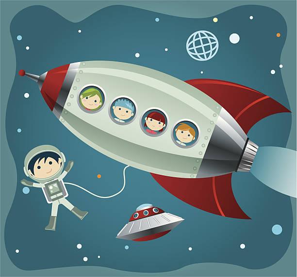 Little Astronauta - illustrazione arte vettoriale