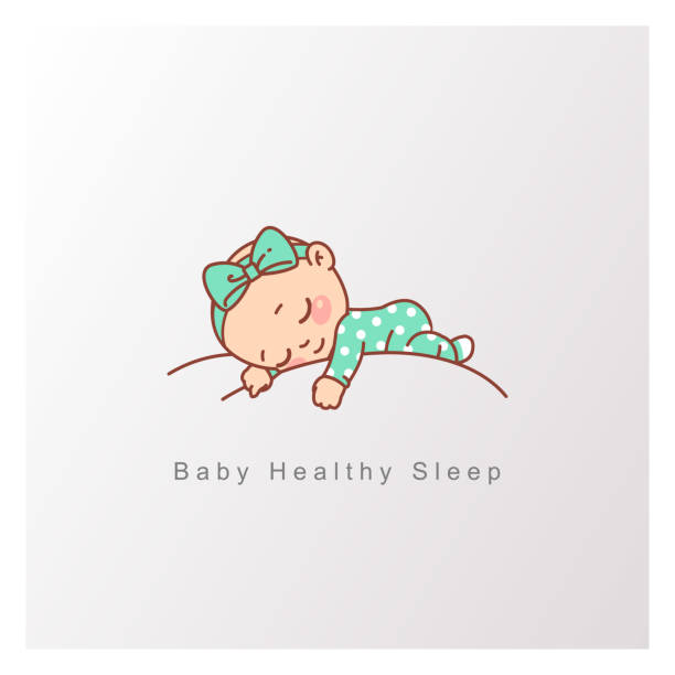 ilustrações de stock, clip art, desenhos animados e ícones de little baby boy, girl sleep peacefully on soft white cloud. - baby