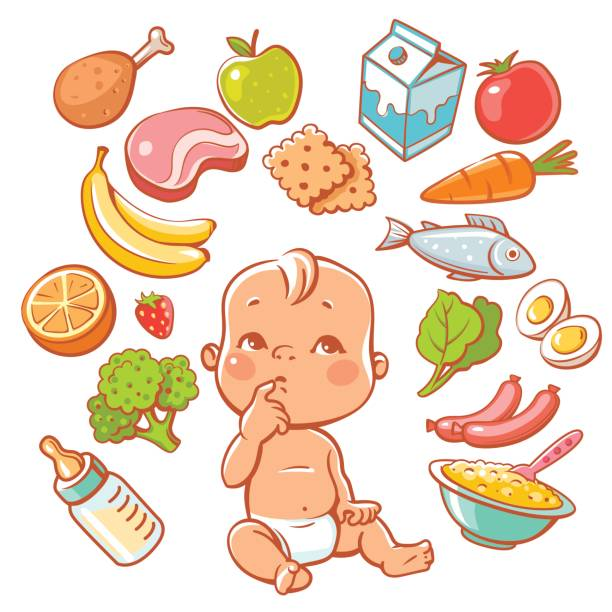 Baby Eating Illustrations, Royalty-Free Vector Graphics ...