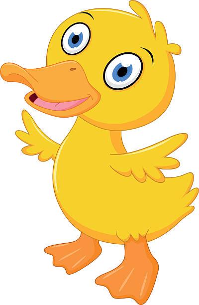 Royalty Free Cartoon Of Cute Baby Duck Thumb Up Clip Art ...
