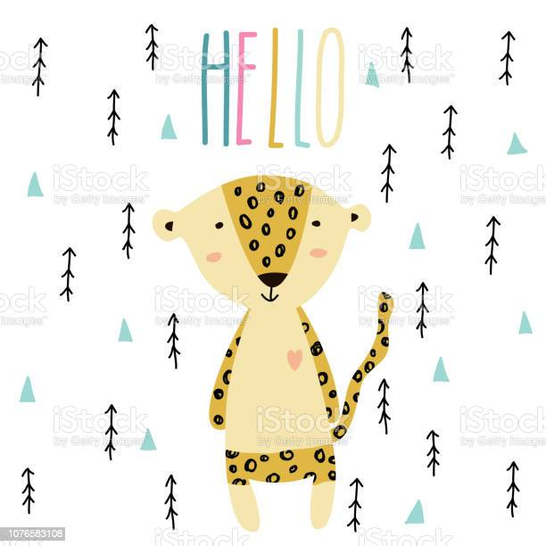 Little baby leopard art in scandinavian style vector id1076583108?b=1&k=6&m=1076583108&s=612x612&h=7cqviybgsp0lskbr2heci1rnh8tybukjs1vzzxi2xu8=
