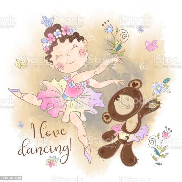 Little ballerina girl dancing with a bear i love dancing inscription vector id1161579943?b=1&k=6&m=1161579943&s=612x612&h=gyyhrjbhd 02dctkklivyxna3ftxpxltvfhulhy2cx8=