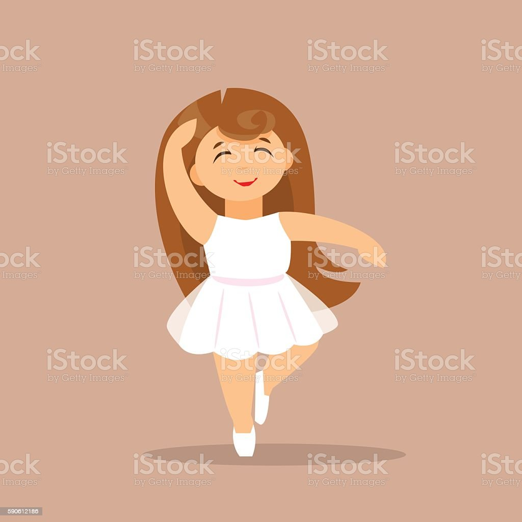 Little Ballerina. Vector illustration vector art illustration