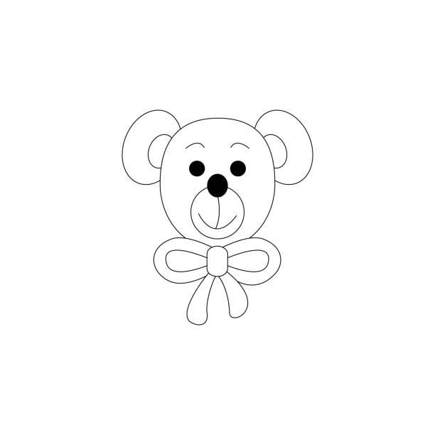 Petite page de coloration d'ours. Mignon. - Illustration vectorielle