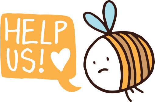 Little bee asking for help