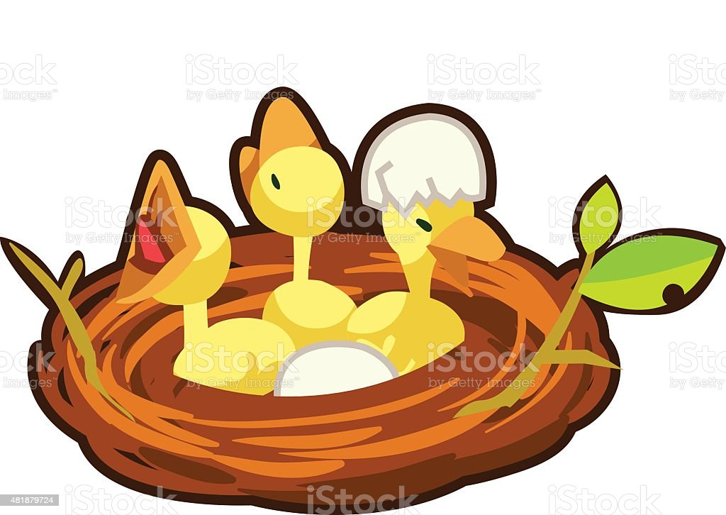 Little bird in a nest royalty-free little bird in a nest stock vector art & more images of 2015