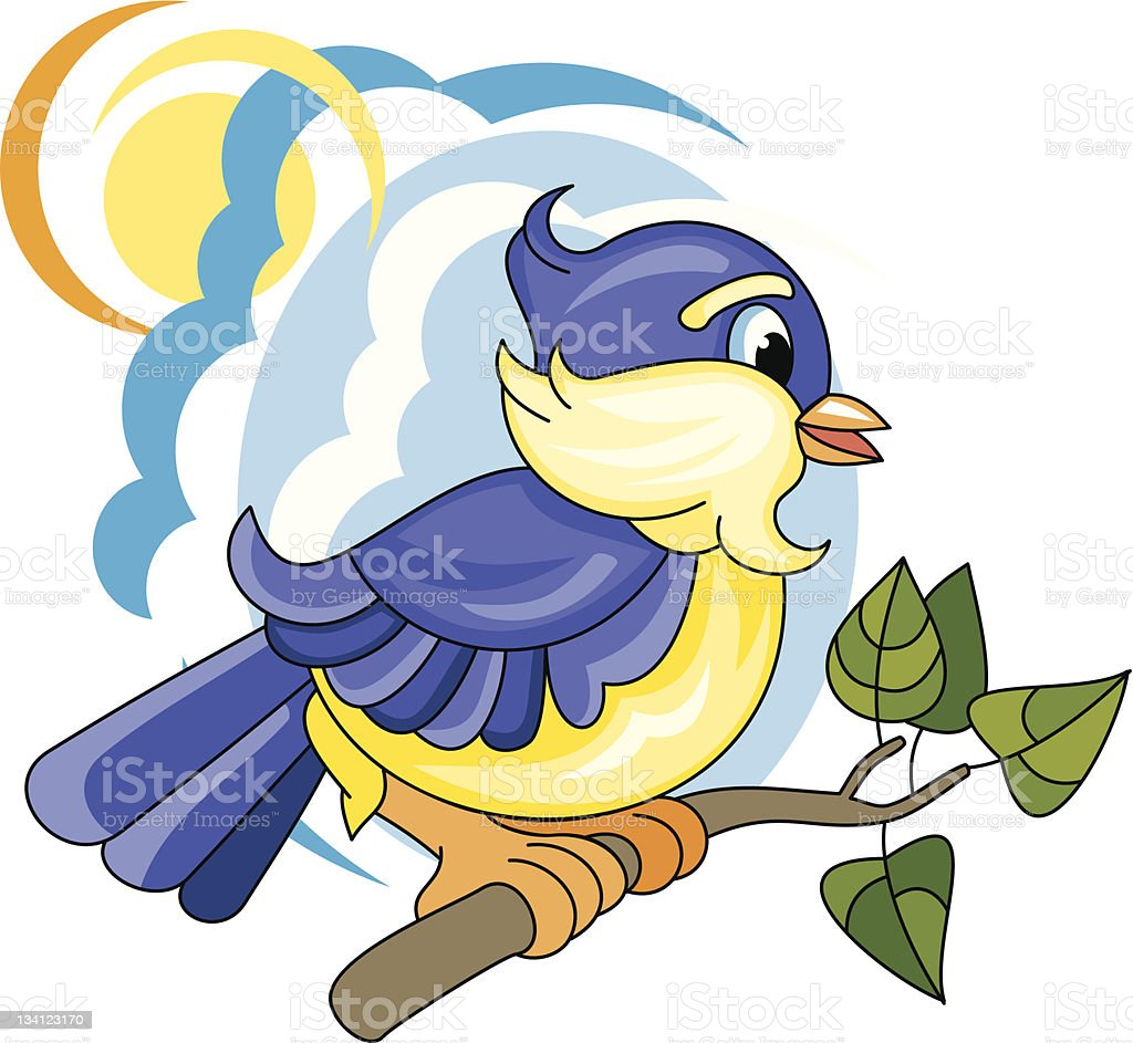 Little bird royalty-free stock vector art