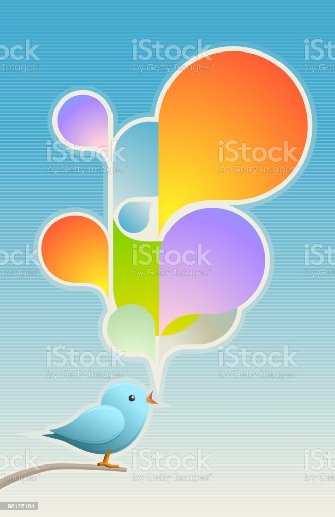 Little bird's song royalty-free little birds song stock vector art & more images of abstract