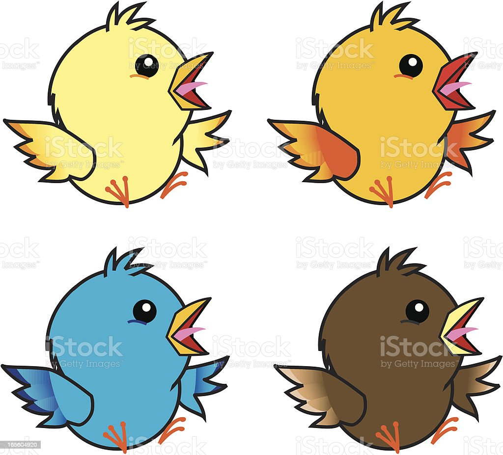 little birds royalty-free stock vector art