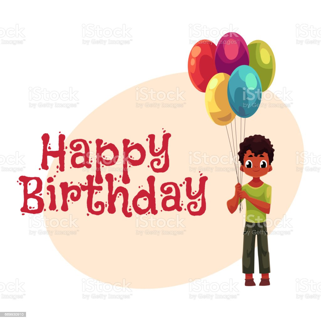 Little black african american boy holding bunch of birthday little black african american boy holding bunch of birthday balloons royalty free little black kristyandbryce Image collections