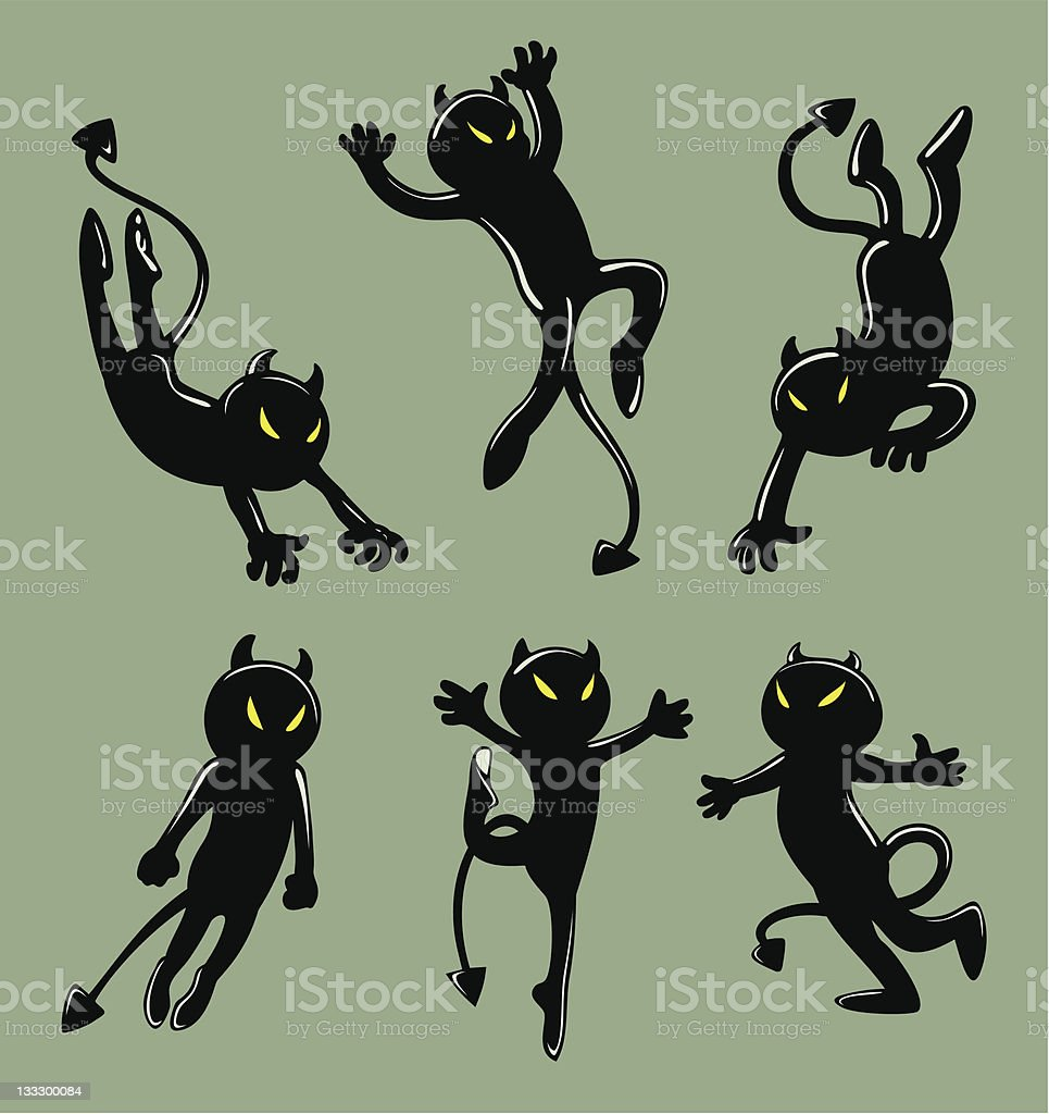 Little Black Devils Stock Vector Art & More Images of Activity ...