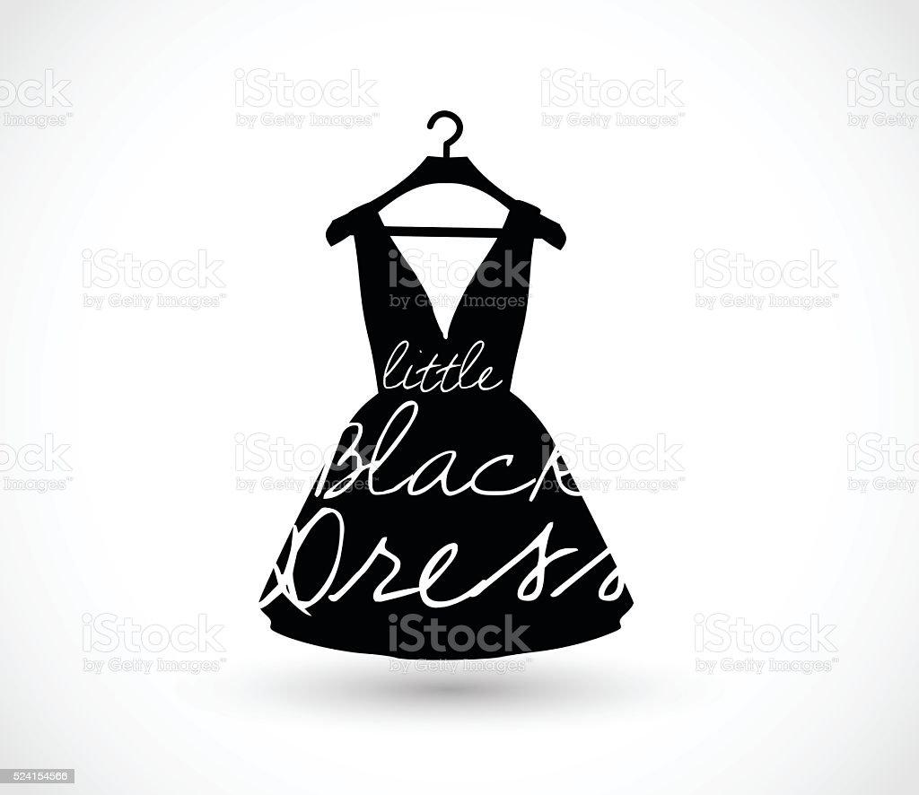 Little black dress on a hanger icon vector illustration vector art illustration