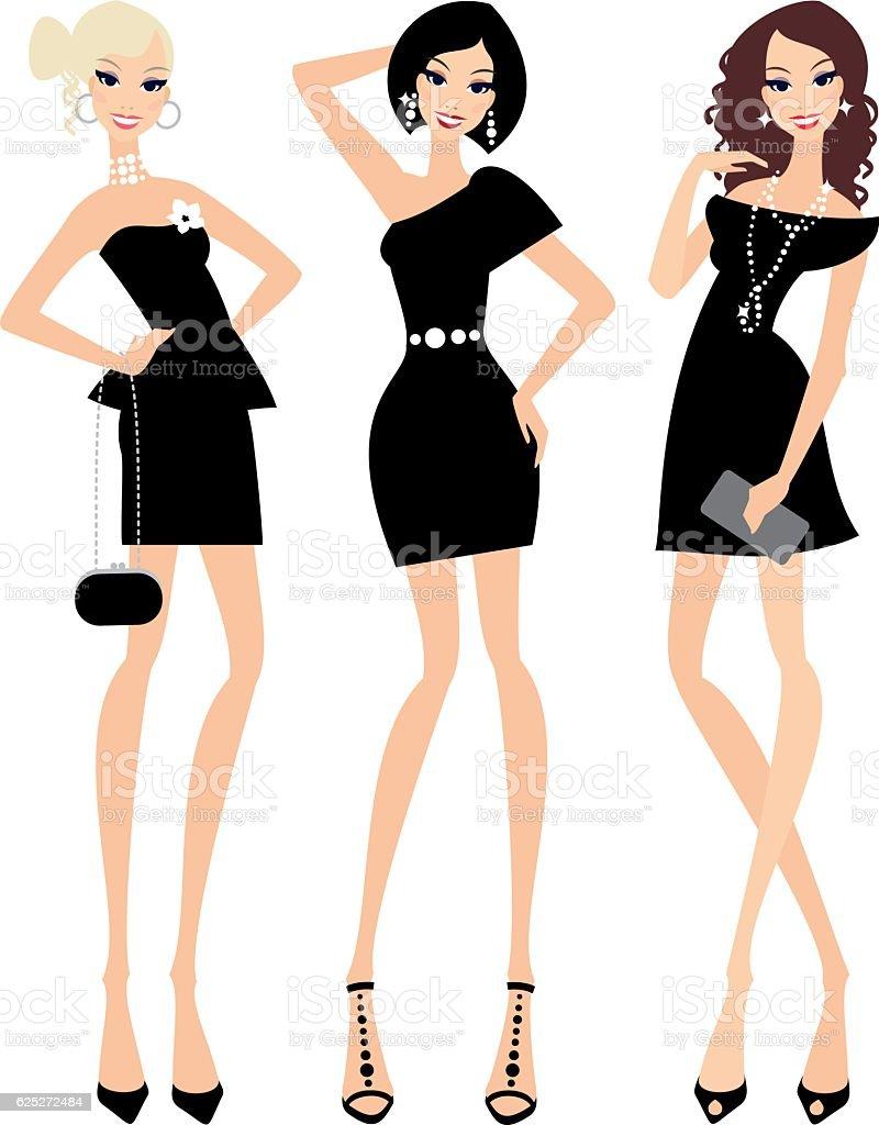 Little black dress vector art illustration