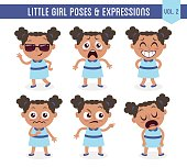 Little black girl poses and expressions (Vol. 2 / 8)