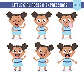 Little black girl poses and expressions (Vol. 4 / 8)