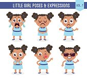 Little black girl poses and expressions (Vol. 7 / 8)