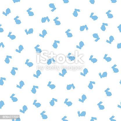 istock Little Blue Bunnies Seamless Pattern 926427202