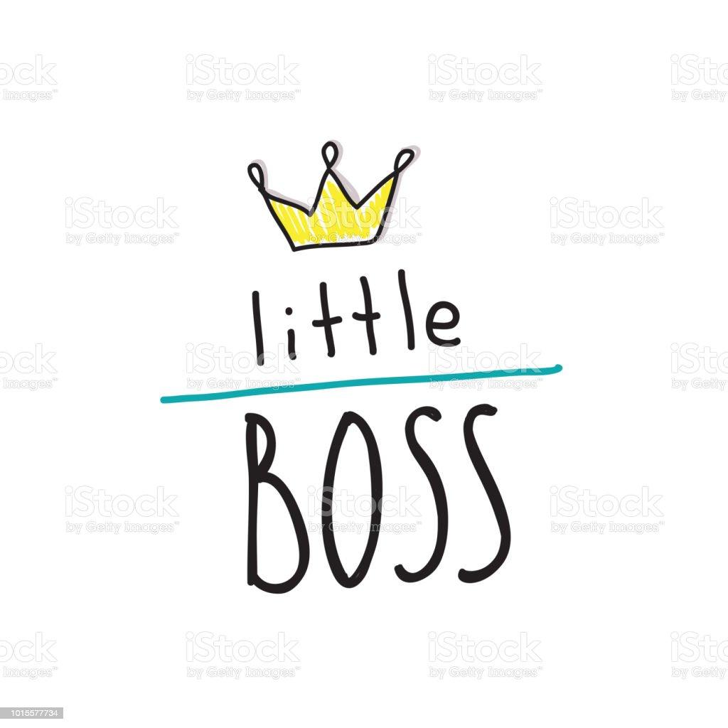 Kleiner Chef Motto Hand Schriftzug Zitate Auf Babys Kleidung