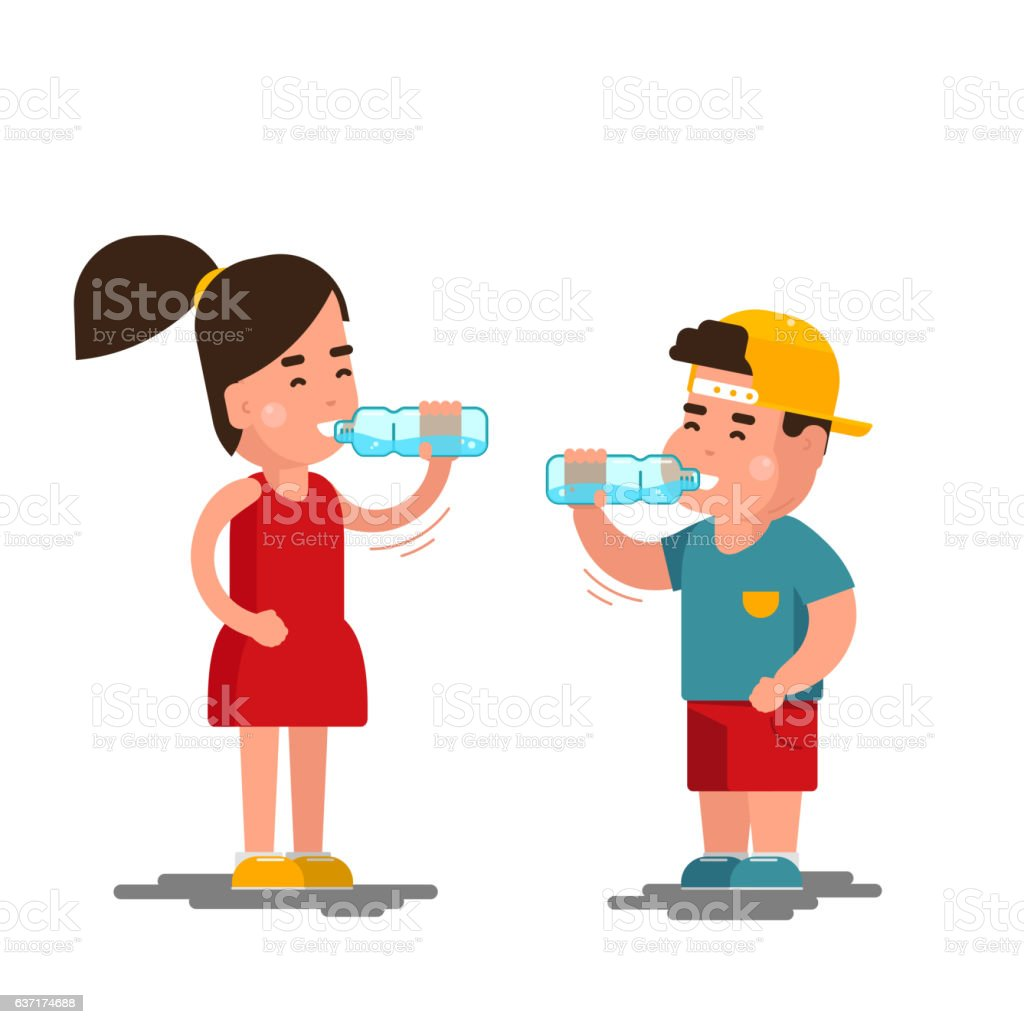 royalty free boy drinking water clip art vector images rh istockphoto com girl drinking water clipart girl drinking water clipart