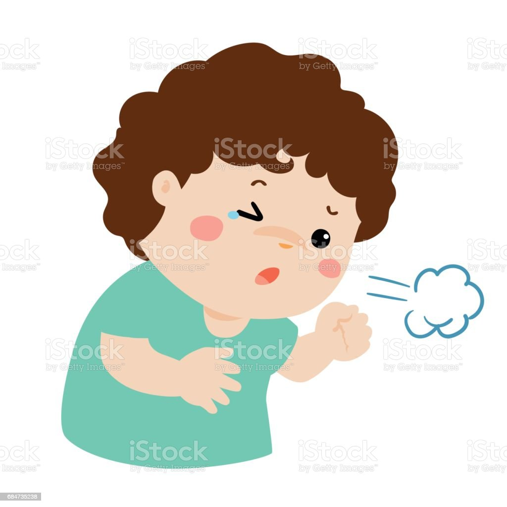 Image result for clip art child coughing