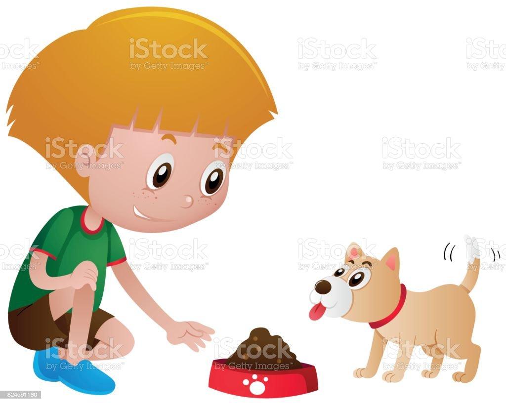 royalty free feeding dog clip art vector images illustrations rh istockphoto com pet clipart free pet clip art borders free