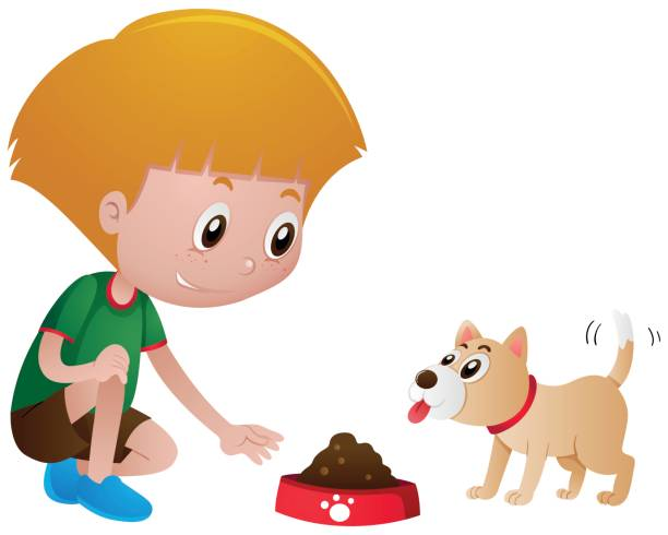 Best Feeding Dog Illustrations, Royalty-Free Vector ...