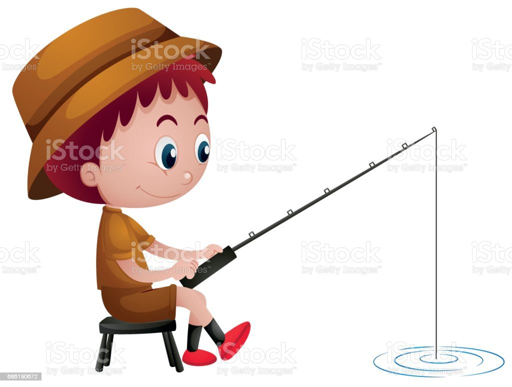 royalty free fishing clipart clip art vector images illustrations rh istockphoto com boy fishing clipart black and white boy fishing clipart free