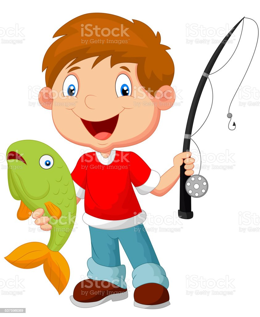 royalty free kids fishing clip art vector images illustrations rh istockphoto com