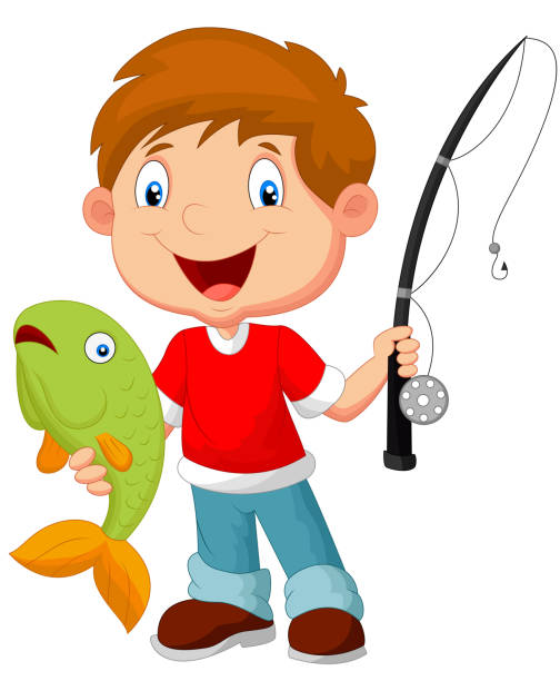 Best Kids Fishing Illustrations, Royalty-Free Vector ...