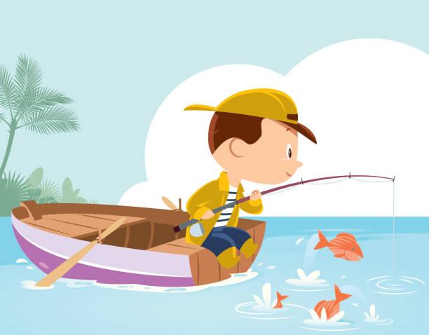 little boy ジョンフィッシング - 漁師点のイラスト素材/クリップアート素材/マンガ素材/アイコン素材