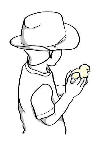 Little Boy Holding A Chick